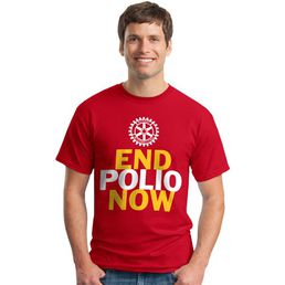 End Polio Now T-paita