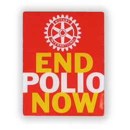 End Polio Now -pinssi